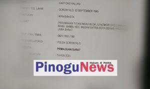 Dugaan Surat Palsu, Kontraktor Pasar Sentral Gorontalo Dilaporkan Ke Polisi