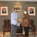 Gubernur Gubernur Gorontalo Rusli Habibie menemui Wakil Ketua DPR RI Aziz S Rusli Habibie menui Wakil Ketua DPR Azis Samsudin