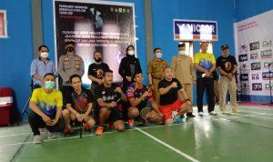 Bupati Indra Yasin Membuka Turnamen Badminton Cup 2021