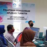 UPT. Perpustakaan Cegah Plagiarisme Melalui Pelatihan Penggunaan Turnitin