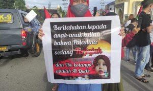 Salah satu spanduk kepedulian yang di bawah aliansi Gorontalo For Palestina