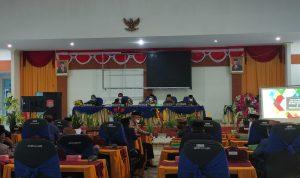 Suasana saat berlangsung rapat paripurna DPRD Kabupaten Bone Bolango