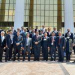 Rahcmat Gobel saat bersama Wakil Perdana Menteri (PM) dan Menteri Investasi dan Perdagangan Luar Negeri Uzbekistan Umurzakov Sardor Uktamovich di Tashkent Uzbekistan