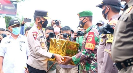 Kapolda Gorontalo Irjen Pol Akhmad Wiyagus Meninjau Pos Perbatasan Gorontalo Sulteng