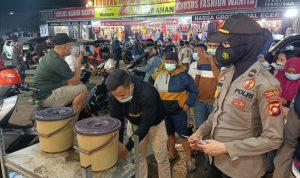 Polwan Gorontalo Proaktif Sosialisasikan Prokes